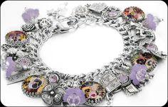 Secret Garden Charm Bracelet Silver Charm by BlackberryDesigns