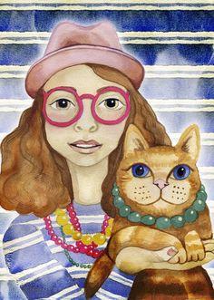 Hipster Cat Lady / Elli Maanpää / 2013