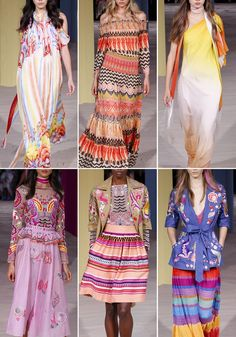 Patternbank are loving this folky sun drenched collection suitable for any festival goer, in this designer highlight from Temperley London's SS17 collection at London Fashion Week.