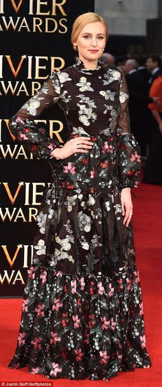Brit of all right! Laura Carmichael ensured she pulled out all the stops for the annual Olivier Awards, which were held at the iconic Royal Opera House in London on Sunday night Gemma Arteton, Laura Carmichael, Ceremony Dresses, Glitz And Glam, Sunday Night, Red Carpet Dresses, Celeb Style, Celebs, Celebrities