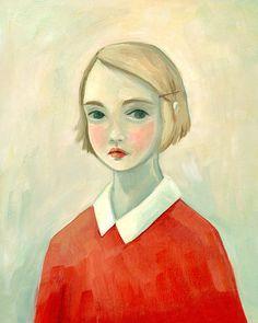 Dies ist ein Porträt einer einsamen Frau.    Dieses Bild ist aus der Serie Eleanor über das einsame Mädchen und ihre innere Welt.    Dieser