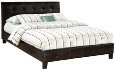 Rochester Queen Brown Upholstered Bed by Standard Furniture