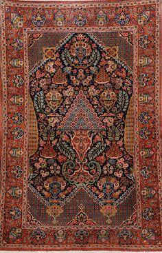 Kurk Kashan Rug (Hadji-Khanumi Design), Persia, circa 1930, wool/cotton, approx. 207 x 139 cm