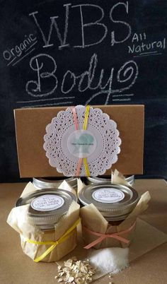 Face & Body Scrub Set  Natural  Handmade by TheWaterBottleSoapCo, $18.00