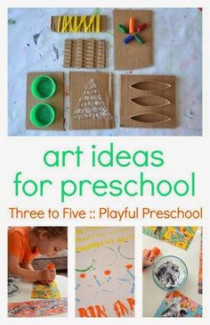 Three to Five: Playful Preschool is packed full of creative, hands-on preschool activities. It includes math, literacy, art, science and play ideas and includes 10 free preschool printables. Art Activities For Kids, Preschool Learning, Teaching Art, Toddler Activities, Preschool Activities, Art For Kids, Crafts For Kids, Arts And Crafts, Kid Activites