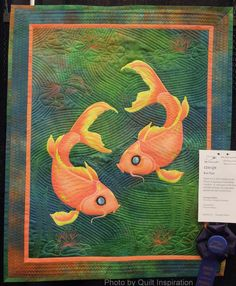 Koi Pair by Georgia Heller.  First place award, 2014 AZQG, photo by Quilt Inspiration