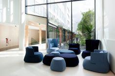 Espace détente, attente - Siège social ALTRAN France, Immeuble Le Topaz, Vélizy