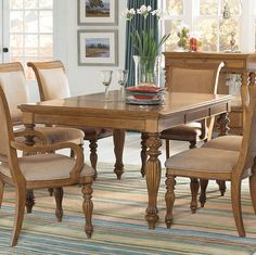 Grand Isle Rectangle Leg Table
