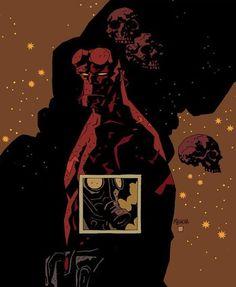 Hellboy - The Conqueror Worm Comic Book Pages, Comic Book Artists, Comic Book Characters, Comic Artist, Comic Books Art, Illustrations, Illustration Art, Mike Mignola Art, Universe Art