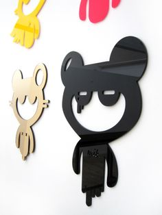 Plastic 3D Wall Stickers by Ieva Glasius-Nyborg, via Behance
