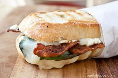 Brie, Basil, Bacon & Blue Panini
