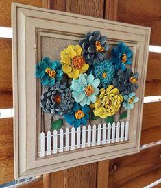 Delicate Garden Fencing And Gates Ideas 8 Nurturing Clever Hacks: Fence Plants Summer deck fence ideas. Pine Cone Art, Pine Cone Crafts, Pine Cones, Wood Pallet Fence, Wood Pallets, Metal Fence, Fence Stain, Wood Crafts, Diy And Crafts