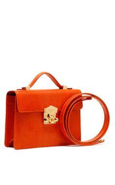 Flash Clutch In Orange Lizard Small Handbagsshoulder