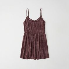 Abercrombie & Fitch Lace-Trim Cami Dress ($39) ❤ liked on Polyvore featuring dresses, burgundy pattern, lace trim dress, zip dress, pleated cami dress, thin strap dress and camisole dress