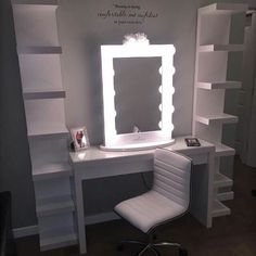 19 Epic Vanity Table Ideas That Will Inspire Your Next DIY Project Create the ultimate primping station with these gorgeous vanity sets Vanity Room, Diy Vanity, Vanity Ideas, Vanity Mirrors, Mirror Ideas, Ikea Makeup Vanity, Vanity Tables, Mirror Room, Small Vanity