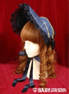 ·• Alice and the Pirates •· Galactic Journey to the Stars Bonnet (navy)