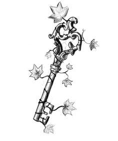 Ivy Key Tattoo