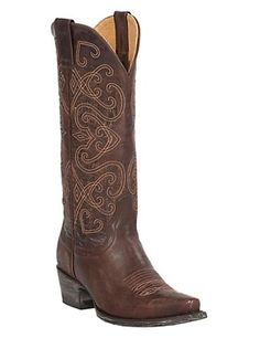 Cavender's by Old Gringo Women's Brown Splendora Goat Snip Toe Western Boots
