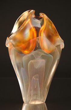 David Lotton - The Bride's Veil glass vase