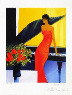 Musique Rouge Limited Edition by Emile Bellet at AllPosters.com