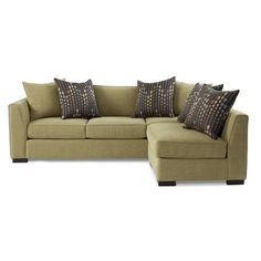Jonathan Louis Fischer Contemporary Two Piece Sectional Sofa with Tall Flared Arms - John V Schultz Furniture - Sofa Sectional Erie, Pennsylvania