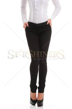Fofy Skinny Waist Black Trousers Black Trousers, Black Jeans, Skinny Waist, Female Bodies, Black Friday, Suits, Sexy, Fabric, Clothes
