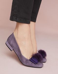 Schuhe, Ballerinas in Ultraviolet - Pantone Colour of the Year | Farbe des Jahres 2018 - Ultra Violet #ultraviolet