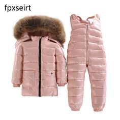 Awesome Children's Clothing Winter Jacket For Girls Boys White Duck Down Jacket+Pants Suit Solid Thick outerwear & coats Waterproof - $ - Buy it Now!