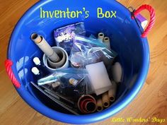 how to make an inventor's bin for kids