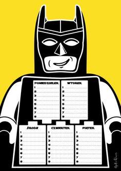 Batplan, plan lekcji, 4 wersje kolorystyczne - SimplyHappyAW - Plany lekcji How To Plan, Illustration, Etsy, Bullet, Asia, Meme, House, Ideas, Speech Language Therapy