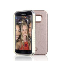 Samsung Galaxy S6 Edge Case, AMAZING LED Light Up Selfie Luminescence Back Cover for Samsung Galaxy S6 Edge,Great for Selfies,Facetime,Flashlight (Rose Gold) -- Awesome products selected by Anna Churchill