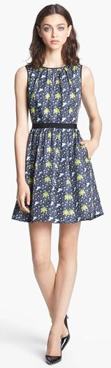 Miss Wu Packed Floral Print Dress