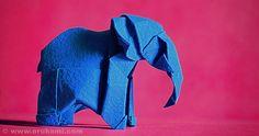 Wonseon Seo Origami Elephant by Himanshu (Mumbai, India), via Flickr