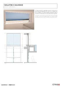 Catalogue Otimah! - Fenêtre guillotine à galandage (en,fr)
