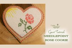#COOKIE CONNECTION ALERT - Today we have an unexpected guest tutorial, all about how to pipe needlepoint cookies. Enjoy! http://cookieconnection.juliausher.com/blog/cross-stitch-or-needle-work-rose-pattern-cookie / COOKIE AND PHOTO BY VIOLET OF http://lovelylishsweets.blogspot.com