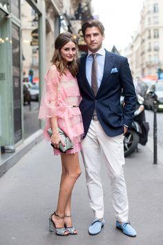 Olivia Palermo & Johannes Huebl Women and men who dress well just shine.