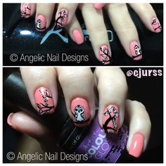 """I created this design a few months ago from a client supplied photo. I think it's absolutely """"owl""""some :) Created with Artistic Nail Design Rock Hard Liquid and Powder topped with Artistic Colour Gloss in and ❤️ CJ Artistic Colour Gloss, Owl Nails, Owls, Things To Think About, Nailart, Nail Designs, Powder, Nail Polish, Hand Painted"""