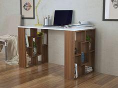 NOVA Schreibtisch   Computertisch   Workstation Für Home Office In Modernem  Design (Weiß / Nussbaum