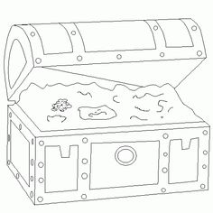 treasure chest coloring page printable | Coloring treasure chest - Free kids coloring to print