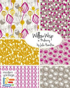 Willow wisp in mulberry modern yardage fabric ~ julie hamilton designs {artistically afflicted blog}