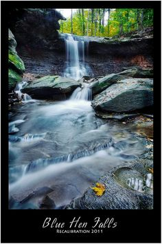 Blue Hen Falls, Cleveland, Ohio. Cuyahoga Valley Nature Preserve.