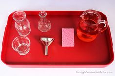 Montessori Practical Life Ideas | Montessori-Inspired Water Pouring and Water-Bead Pouring ...