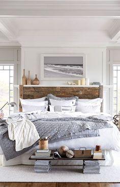 Coastal Bedroom. Shades of Grey #coastalstylehome #greycoastalbedrooms
