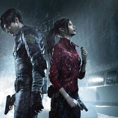 View an image titled 'Gamescom Leon & Claire Character Art' in our Resident Evil 2 art gallery featuring official character designs, concept art, and promo pictures. Resident Evil 3 Remake, Resident Evil Game, Tyrant Resident Evil, World Of Warcraft, Biohazard, Evil Games, Games Zombie, Leon S Kennedy, E Claire