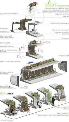 Meio ambiente,Mobilidade urbana,Bicicletas,Poluição,Arquitetura,Bicicletário e Banco.Menthol Architects,Varsóvia, Polônia. 2011,Blog do Mesquita: