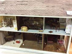 Vintage Handmade Doll House W/ Furniture