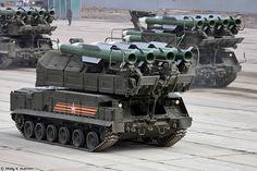 9A316 transporter erector launcher and transloader for Buk-M2 air defence system