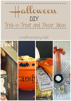 Witch Halloween crafts (DIY witch ideas). Home and party decoration handmade ideas for a festive Halloween with witch hats, witches legs, brooms, fingers