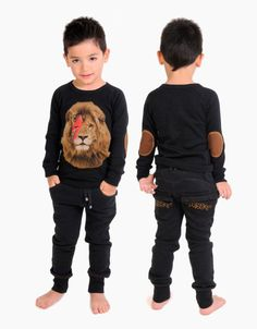 Rock Your Baby winter 2013 coolest bowie lion everrrrr Cute Sweatpants Outfit, Cute Outfits With Leggings, Cute Outfits For Kids, Cute Kids, Boy Outfits, Bowie, Skinny Sweats, Kids Kiss, Rock You Baby