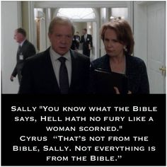 Sally & Cyrus... Scandal <3 Scandal Quotes, Glee Quotes, Scandal Abc, Forbes Quotes, Arrow Tv Shows, Tauriel, Ncis Los Angeles, Night Fury, Caroline Forbes